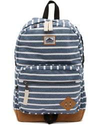 Steve Madden - Stripe Jersey Classic Dome Backpack - Lyst