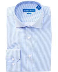 Vince Camuto - Twill Pin Stripe Slim Fit Dress Shirt - Lyst
