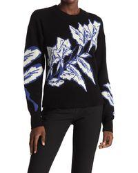 Veronica Beard Ayala Wool Blend Pullover Sweater - Black