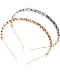 Berry - Brooch Metal Headbands - Pack Of 2 - Lyst