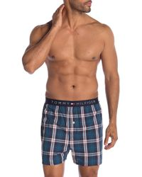 Tommy Hilfiger Woven Fashion Boxers - Blue
