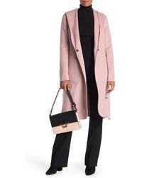 SOIA & KYO Wool Blend Coat - Pink