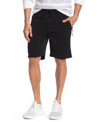 The Narrows Space Dye Zip Pocket Fleece Shorts - Black