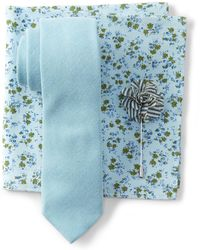 Original Penguin - Denton Solid Tie, Pocket Square, & Lapel Pin Set - Lyst