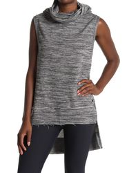 Maaji Spin Space Dyed High/low Cowl Neck - Gray