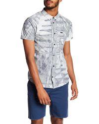 RVCA - Ancell Flora Printed Slim Fit Shirt - Lyst