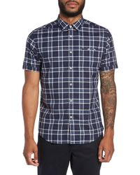 Good Man Brand - Plaid Short Sleeve Trim Fit Shirt - Lyst