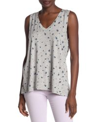 Michael Stars - V-neck High/low Tank Top - Lyst