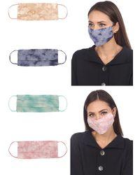 Boho Me Cloud Tie Dye Adult Face Mask - Pack Of 4 - Multicolor