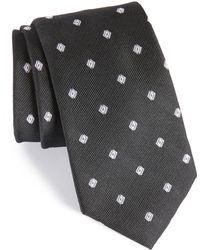 Calibrate - Kaleri Neat Diamond Grid Silk Tie - Lyst
