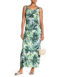 Spense - Side Gathered Print Maxi Dress - Lyst