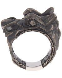 John Hardy Sterling Silver Dragon Ring - Metallic