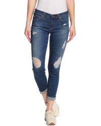 AG Jeans The Stilt Roll Cuff Slim Leg Jeans - Blue