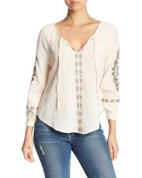 Rip Curl - Summerland Split Neck Top - Lyst
