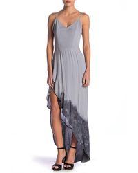 2bcfd7b58 Kimchi Blue Strapless Ruched Knit Maxi Dress in Purple - Lyst