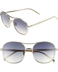 Chloé 54mm Small Nola Aviator Sunglasses - Metallic