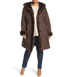 Gallery - Faux Shearling A-line Coat (plus Size) - Lyst