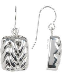 Simon Sebbag - Sterling Silver Mini Braided Square Drop Earrings - Lyst