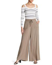 BB Dakota - Wide Leg Tie Up Pants - Lyst