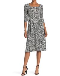 West Kei Midi Knit Printed Dress - Black