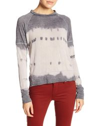 Go Couture - Burnout Raglan Sleeve Sweater - Lyst