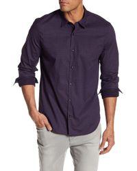 John Varvatos - Print Slim Fit Shirt - Lyst