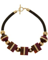 Trina Turk - Oversized Cubes Necklace - Lyst