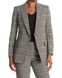 A.L.C. Sedgwick Plaid Double Breasted Blazer - Black