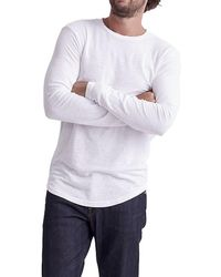 Goodlife Double Layer Long Sleeve T-shirt - White