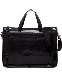 Frye Stanton Leather Work Bag - Black