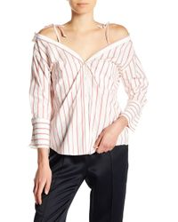 3a9b5e2c14a12 Joie - Alvina Striped Cold Shoulder Top - Lyst