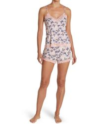 Jessica Simpson Printed Cami & Shorts Pajama Set - Pink