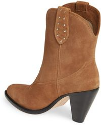 PAIGE Wendy Studded Bootie - Brown