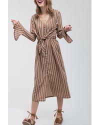 Blu Pepper - Long Sleeve Stripe Dress - Lyst