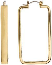 Trina Turk - Rectangle 45mm Hoop Earrings - Lyst