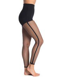Oroblu Fishnet Footless Tights - Black