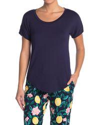 Jane And Bleecker Short Sleeve Pajama Top - Blue