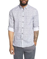 Ted Baker - Nazta Trim Fit Tropical Print Sport Shirt - Lyst