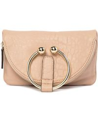 Vince Camuto - Tille Leather Foldover Zip Clutch - Lyst