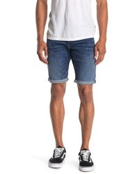 G-Star RAW Elto Slim Cuffed Denim Shorts - Blue