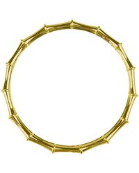 Moon & Lola - Bamboo Designed Bangle - Lyst