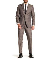 Perry Ellis - Notch Collar Flat Front Windowpane Print 2-piece Suit - Lyst