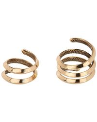 House of Harlow 1960 - Caral Culture Knifed Coil Ring Set - Size 6 - Lyst