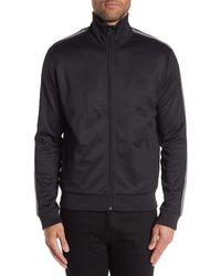 Vince Regular Fit Track Jacket - Black
