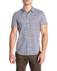 Parke & Ronen - Print Nonstretch Slim Fit Shirt - Lyst