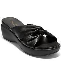 Cole Haan Aubree Grand Knotted Slide Sandal - Black