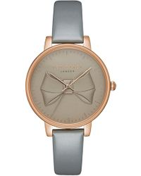 Ted Baker - Brook Leather Strap Watch, 36mm - Lyst
