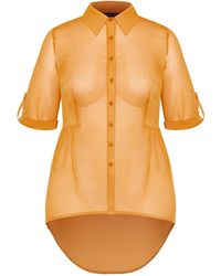 City Chic High/low Feels Shirt - Yellow