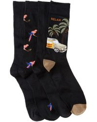 Tommy Bahama | Parrot Crew Socks - Pack Of 4 | Lyst
