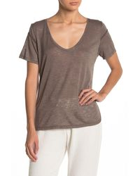 Project Social T Rodeo Scoop Neck T-shirt - Brown